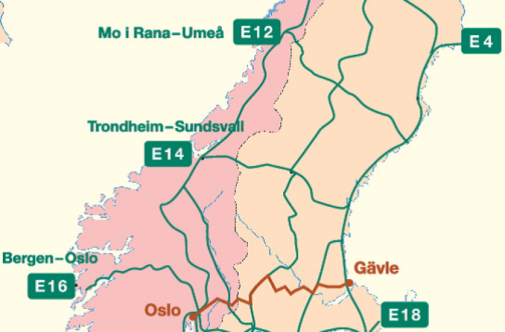 E16 Oslo-Gävle