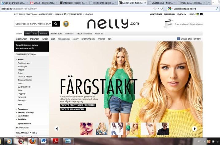 Nelly flyttar lagret till Falkenberg
