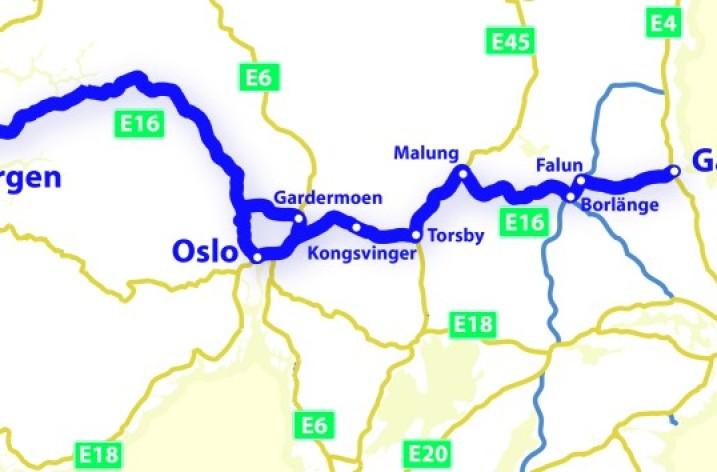 Nya E16 Oslo-Gävle invigd