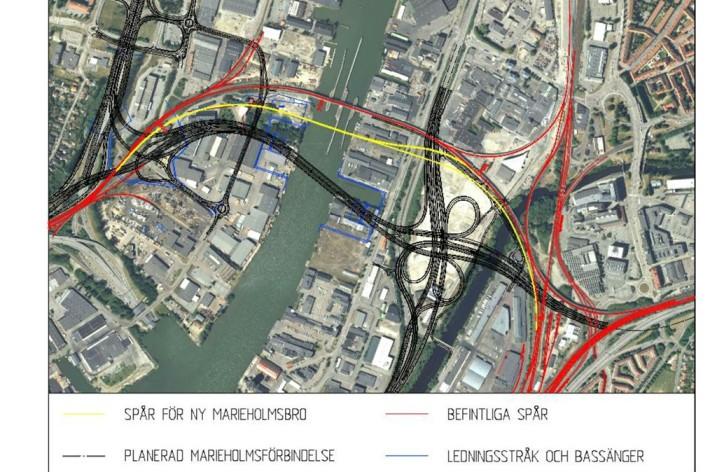 Göteborg får ny tågbro vid Marieholm
