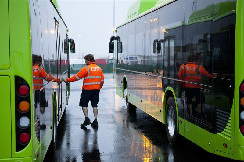 Elbussarna kommer från Kina och Ska användas i stadstrafiken i Ängelholm och Eskilstuna. Foto CMP
