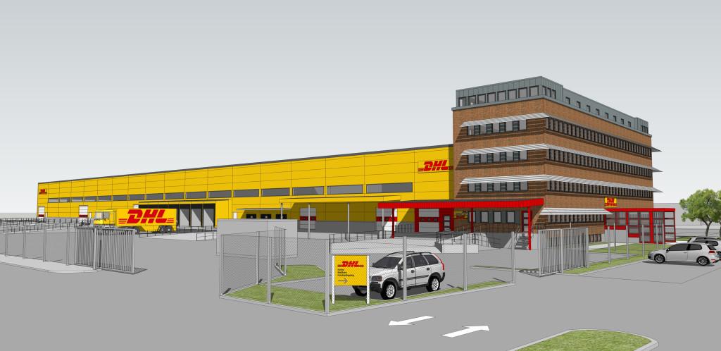 Så här ska DHLs nya 13 000 kvm stora terminal i Västberga se ut.