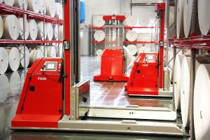 Atabs AGV-truckar används bland annat i pappersindustrin. Foto Atab.