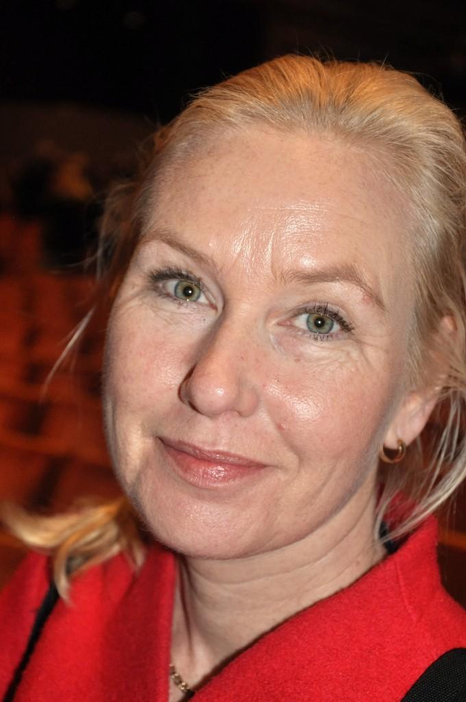 Anna Johansson ansåg att Sverige står inför dubbla transportutmaningar; klimatutmaningen som kräver minskade utsläpp från transporter och en folkökning som kräver ökade transporter. Foto Lena Sonne