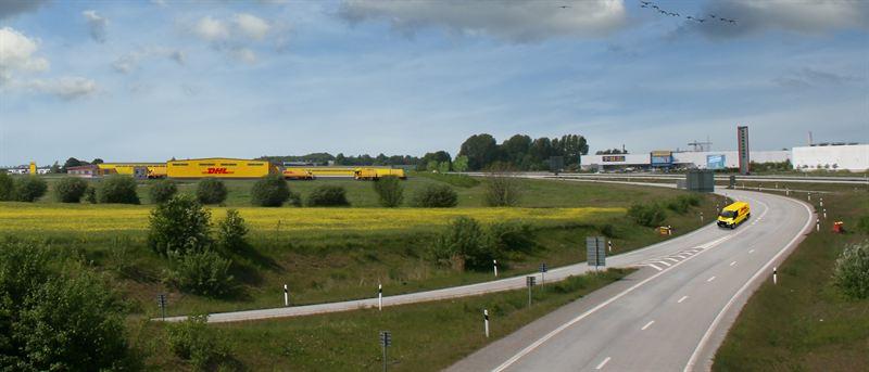 DHLs nya terminal i Sunnanå, som ägs och förvaltas av Catena.