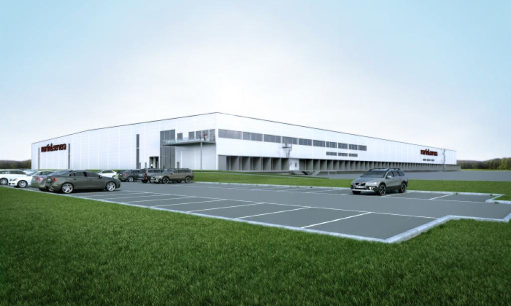 Martin & Servera bygger lager i Enköping