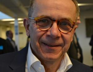 Arne Andersson berättar om leveranskrav och bra logistiklägen för e-handel. Foto Hilda Hultén