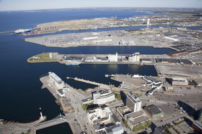Catena byter bort mark i Malmö hamn för att kunna bygga ett centralt citylogistikcenter i Malmö. Foto Malmö Stad