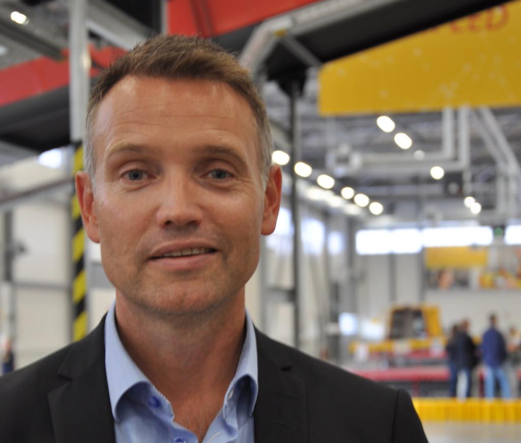 Det här är nog den bästa logistiksatsningen i Stockholm senaste året, säger Ted Söderholm VD DHL Express. Foto Lena Sonne