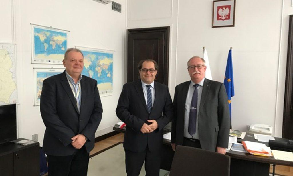 Ministermöte om den ökande färjetrafiken mellan Ystad och Polen