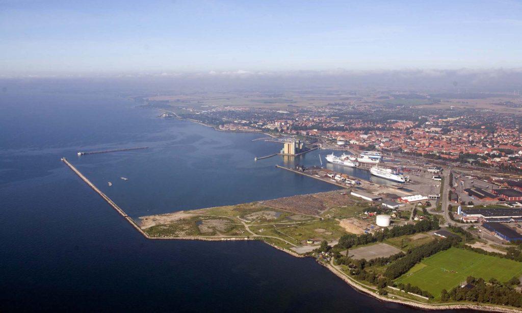 Stortapp för järnvägsgods i Ystad hamn