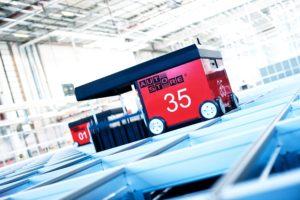 Norska robotsystemet Autostore blir alltmer populärt i e-handelslager. Senaste kunden är Sportamore. Foto Autostore