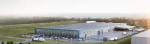 Så här är det tänkt att den nya Volvo-anläggningen på Hisningen ska se ut. Bild: Bockasjö
