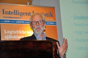 Allan Lavén höll ett uppskattat anförande vid Logistikläget 2017 i Göteborg i maj 2016. Foto: Lena Sonne