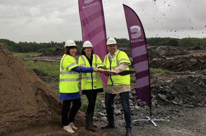 Bygget igång för Castellums nya logistikpark
