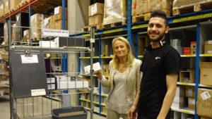 Lernias regionchef Cecilia von der Lancken tillsammans med Hazem Abodan. Foto: Ingram Micro.