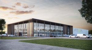 Visionsbild för Ateas nya center i Växjö. Foto: Atea.