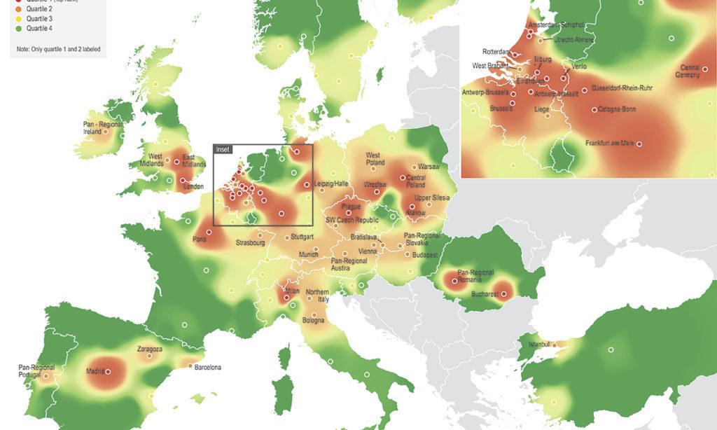 Ny rankning av Europas mest åtråvärda logistiklägen