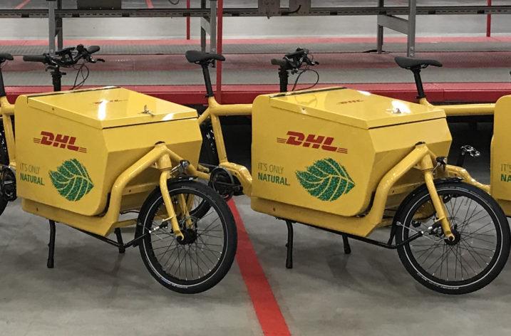 DHL börjar med elcykelleveranser