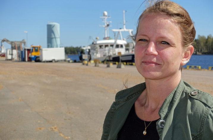 Biobränsle lagras i Gävle