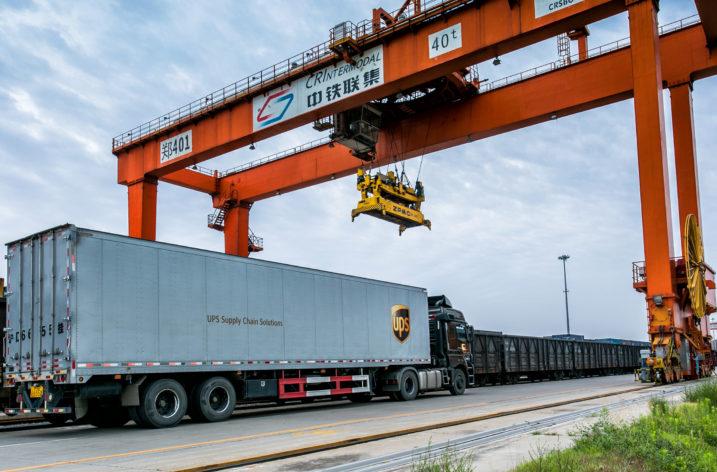 UPS lanserar ny järnvägstjänst till Asien
